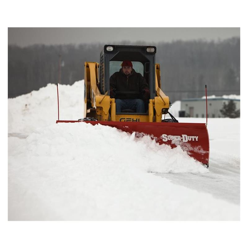 Boss 8 0 Skid Steer Steel Snowplow